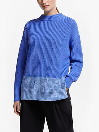 Kin Block Hem Jumper, Blue
