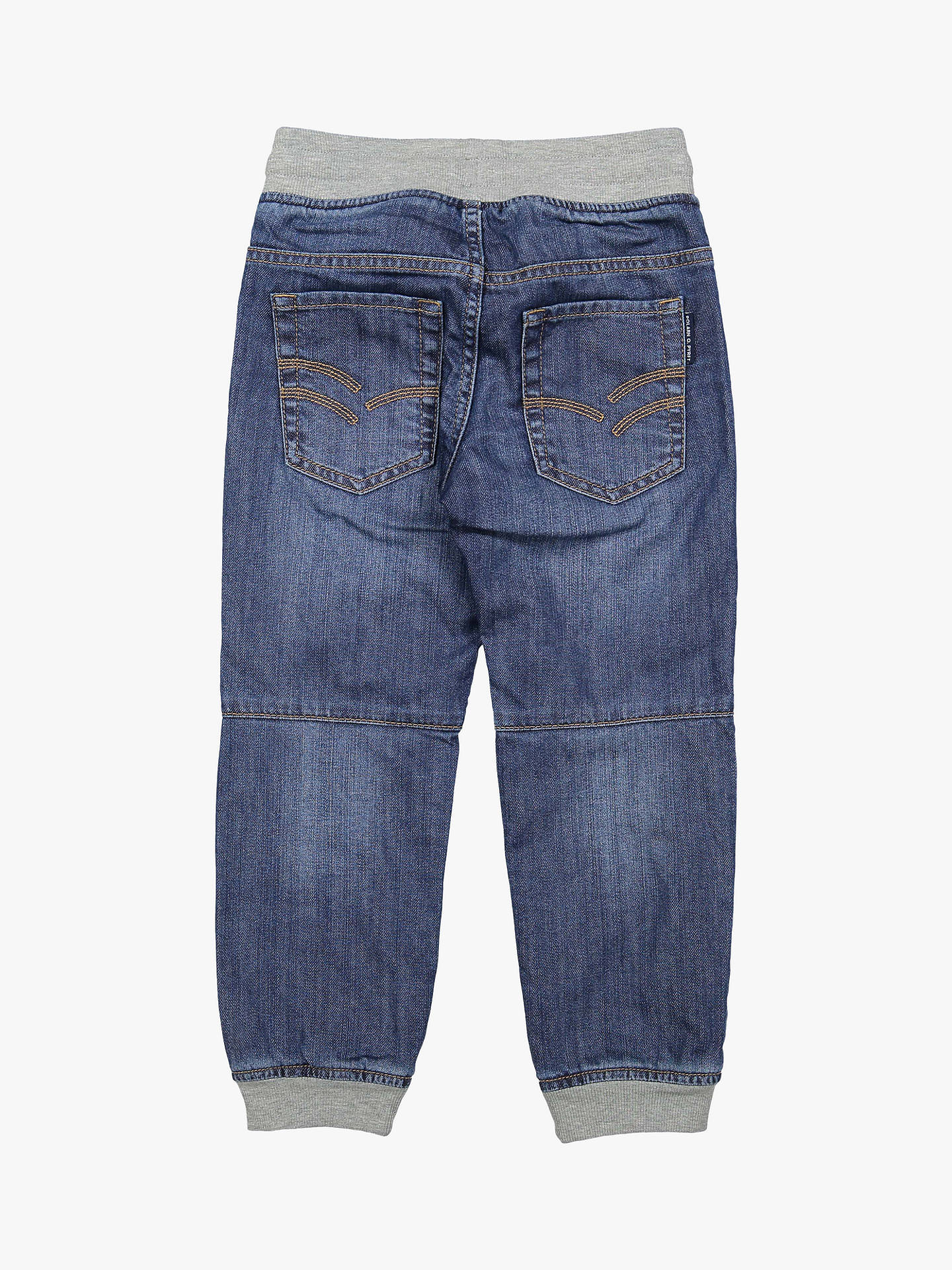 Buy Polarn O. Pyret Children's Denim Jogger Jeans, Blue, 2-3 years Online at johnlewis.com