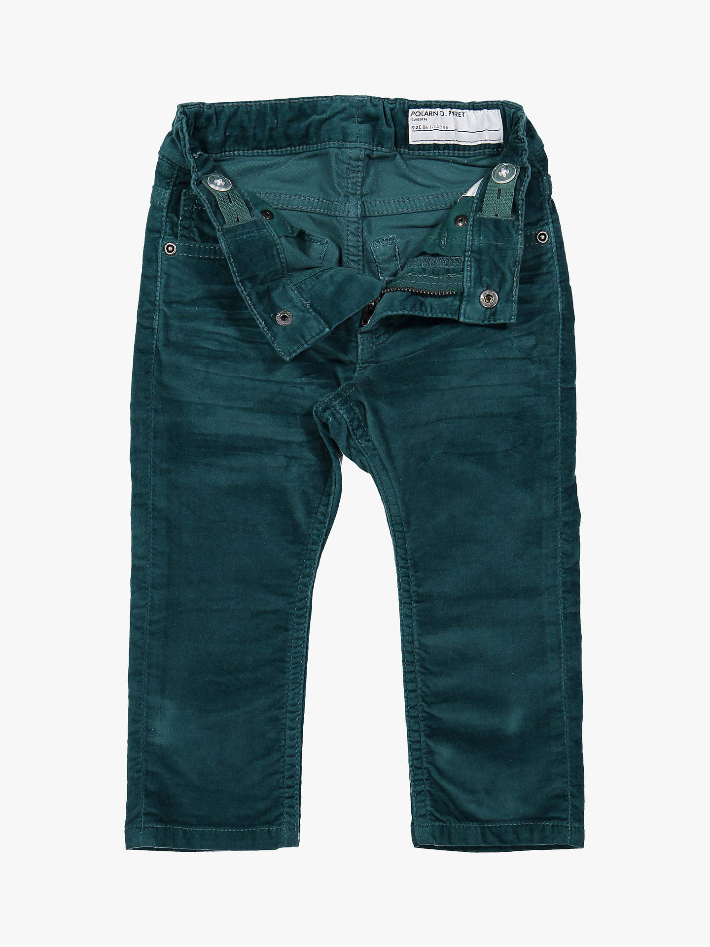 Buy Polarn O. Pyret Baby Velvet Trousers, Green, 6-9 months Online at johnlewis.com