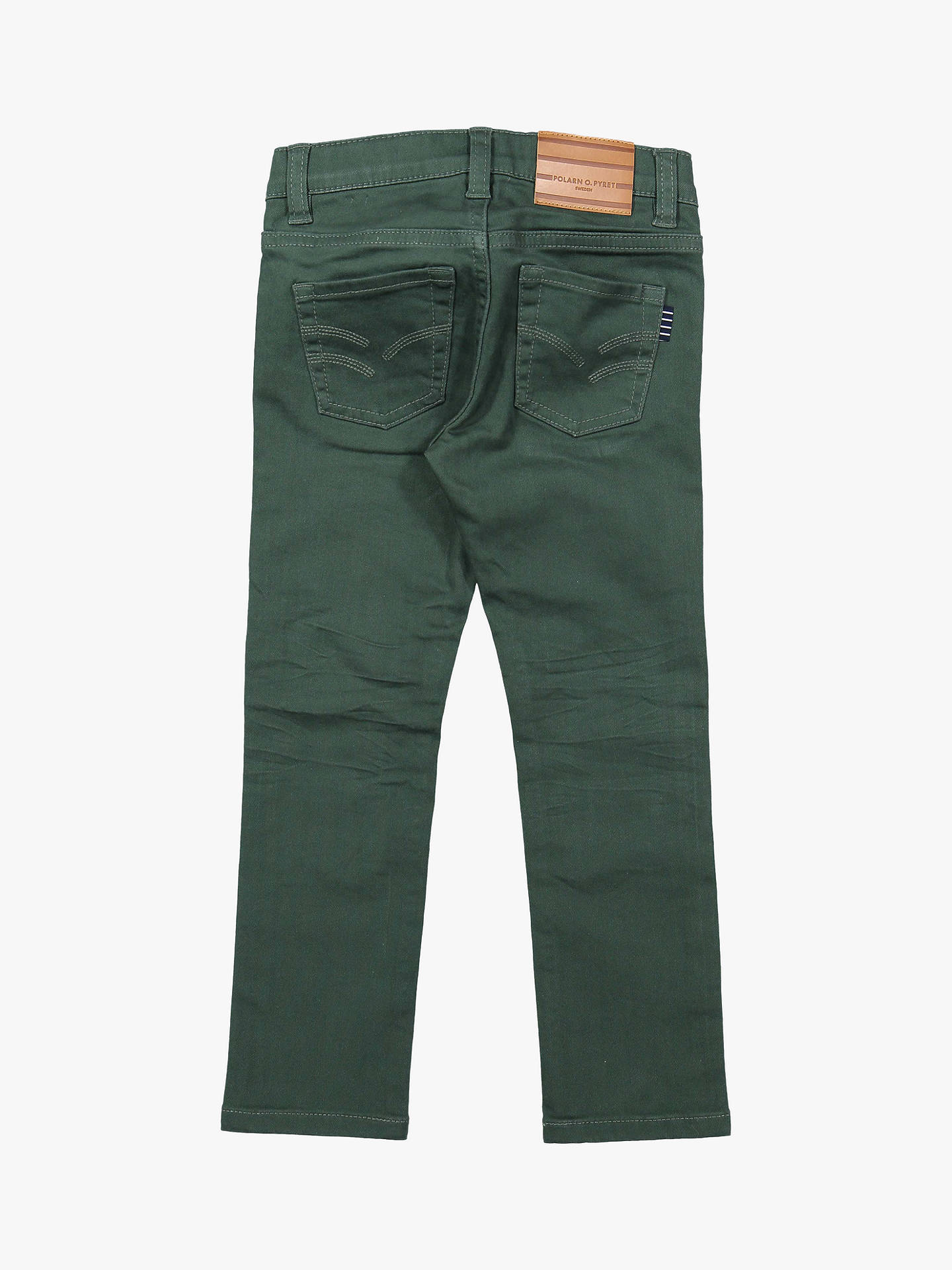 BuyPolarn O. Pyret Children's Twill Jeans, Green, 3-4 years Online at johnlewis.com