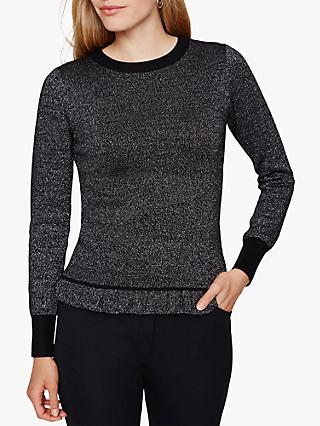 Damsel in a Dress Myla Knit Jumper, Black/Silver