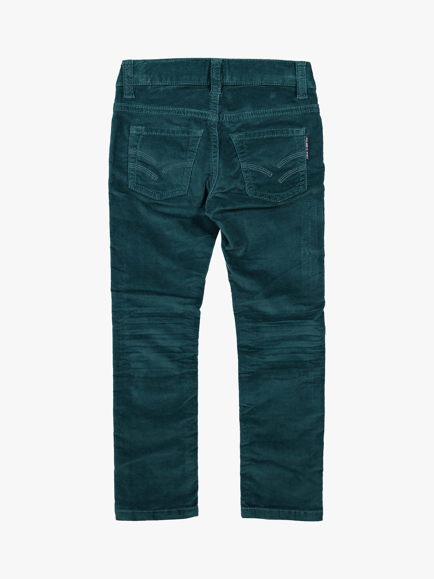 Buy Polarn O. Pyret Children's Velvet Trousers, Green, 10-11 years Online at johnlewis.com