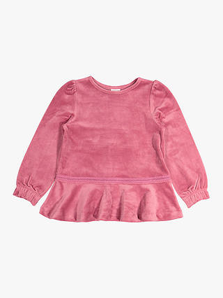 Buy Polarn O. Pyret Children's Velour Top, Pink, 2-3 years Online at johnlewis.com