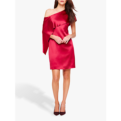 Damsel in a Dress Asymmetric Frill Lissy Dress, Deep Rose