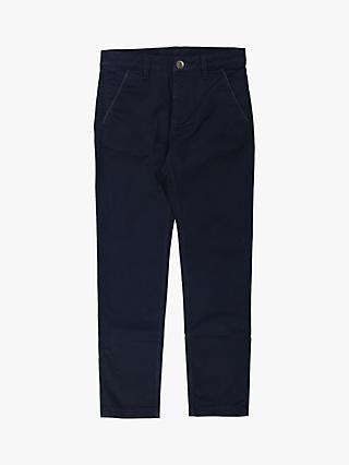 Polarn O. Pyret Children's Cotton Chinos, Dark Sapphire