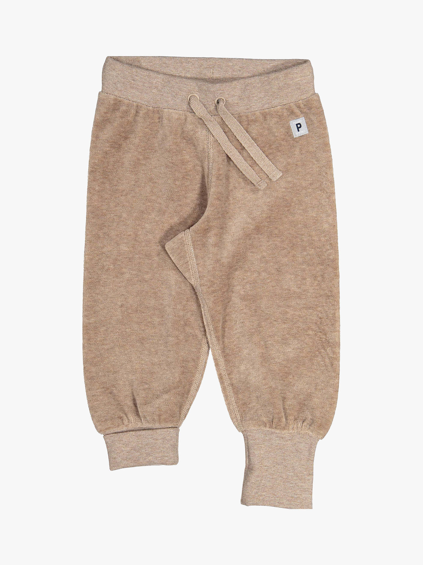BuyPolarn O. Pyret Baby Velour Trousers, Brown, 0-1 months Online at johnlewis.com