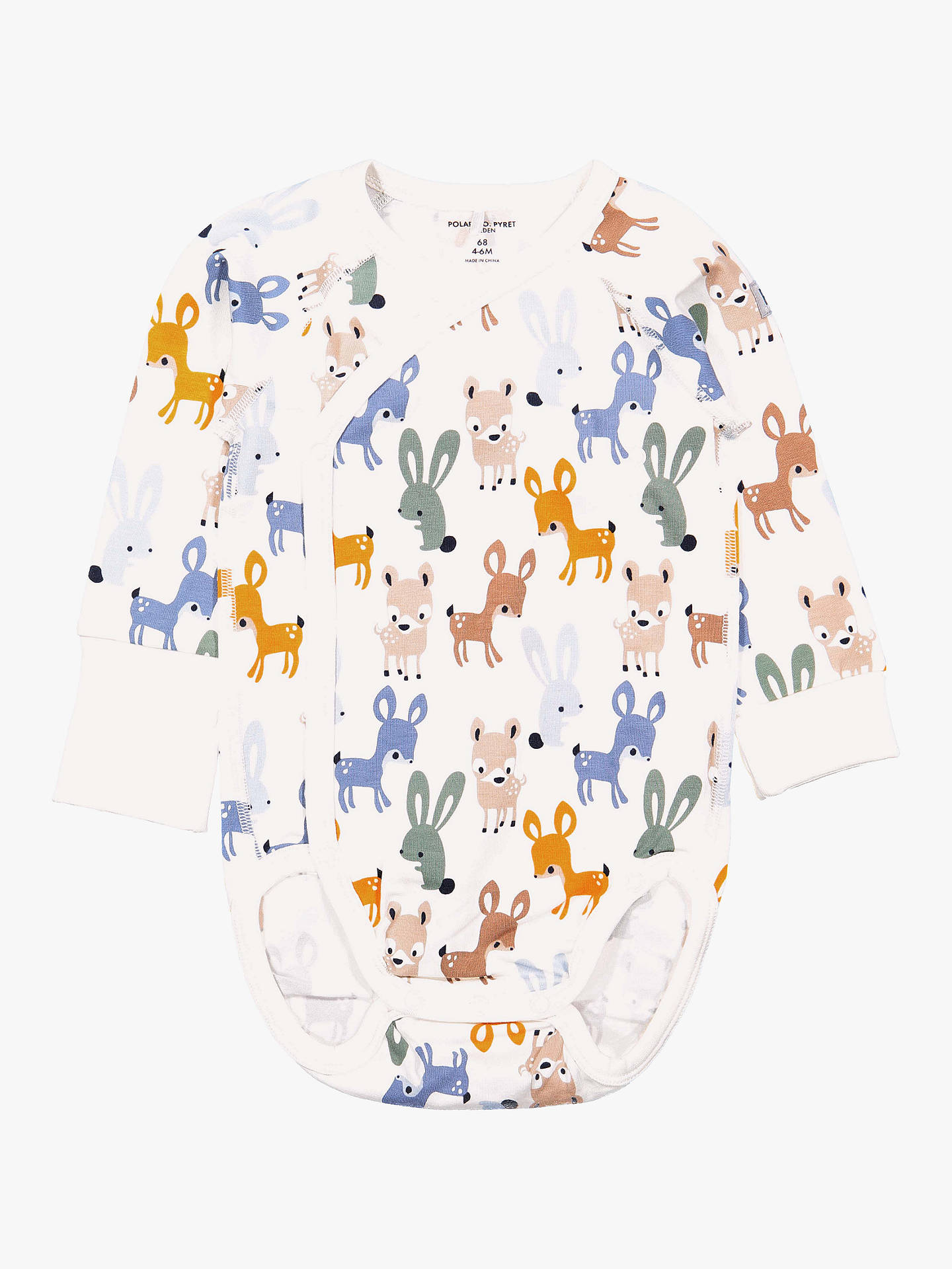 Buy Polarn O. Pyret Baby Animal Bodysuit, Neutral, 1-2 months Online at johnlewis.com