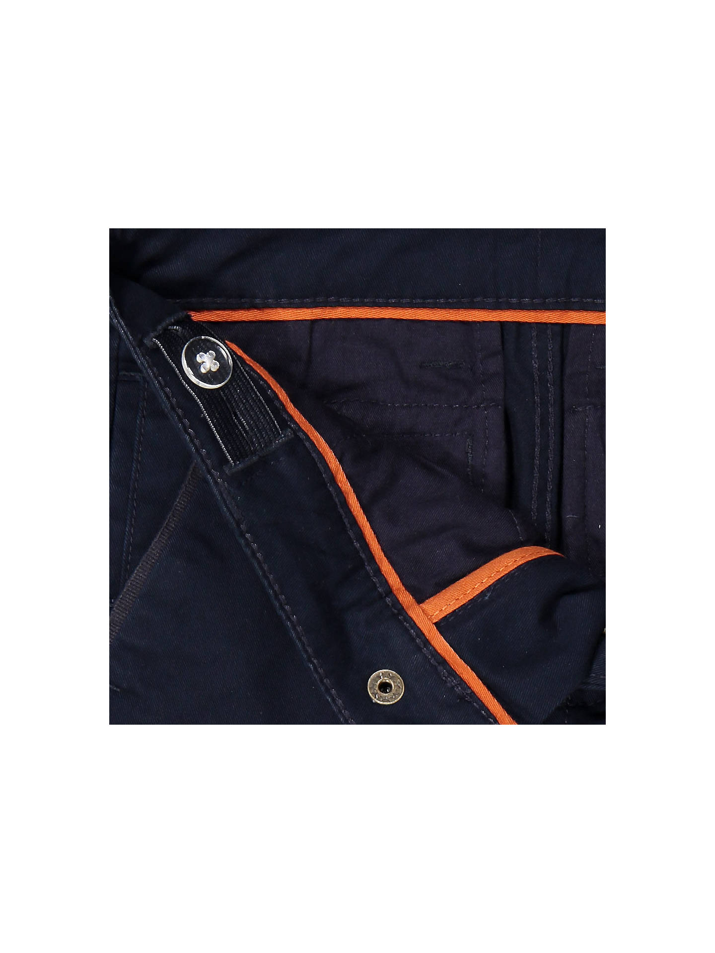 Buy Polarn O. Pyret Baby Cotton Chinos, Dark Sapphire, 6-9 months Online at johnlewis.com
