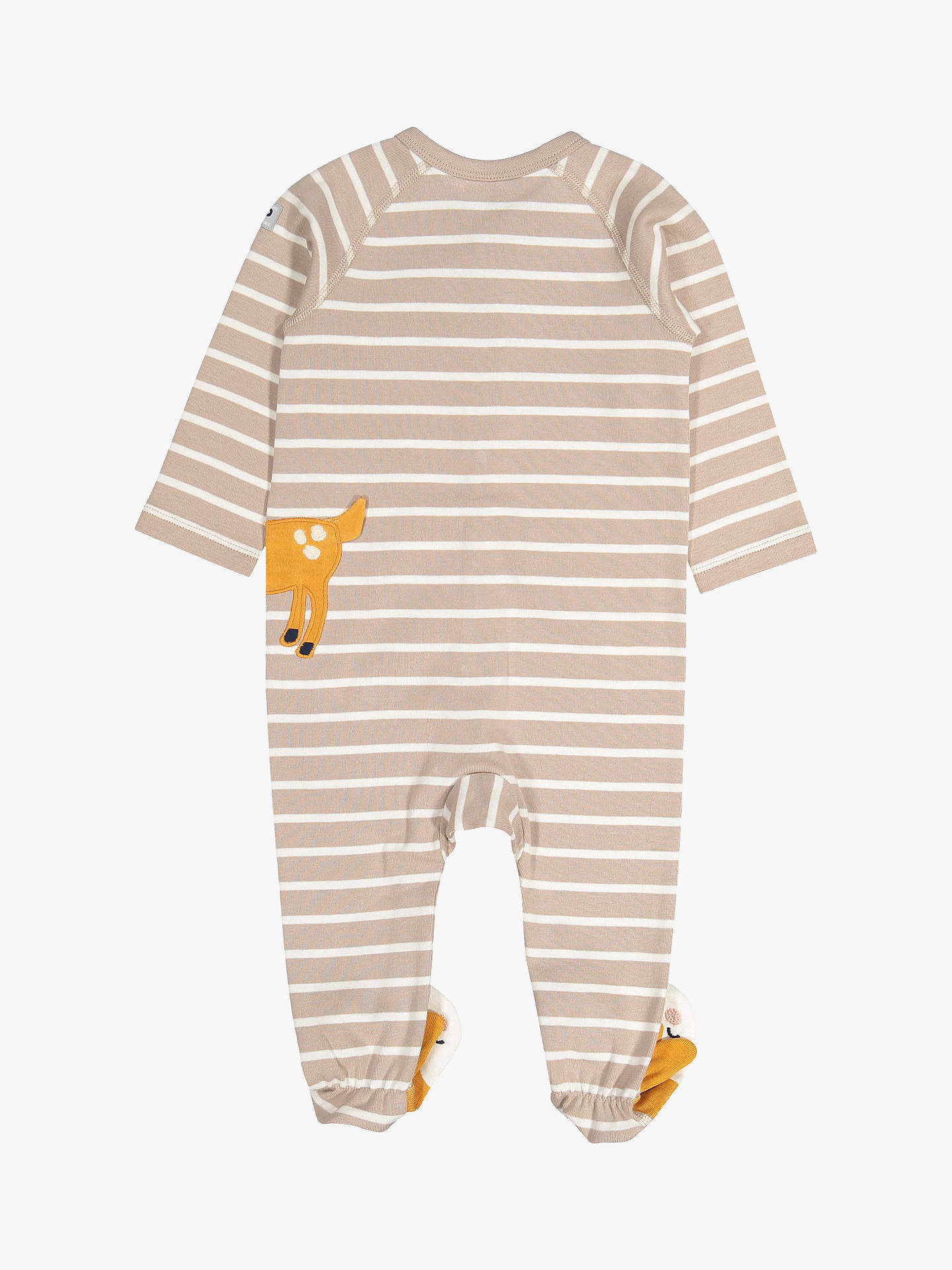 Buy Polarn O. Pyret Baby Stripe Deer Overall, Brown, 1-2 months Online at johnlewis.com