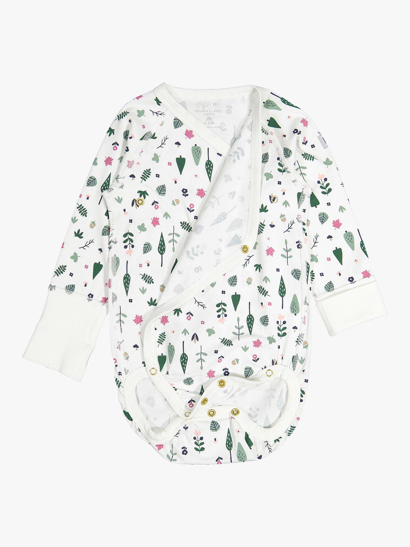 Buy Polarn O. Pyret Baby Nordic Forest Bodysuit, Neutral, 0-1 month Online at johnlewis.com