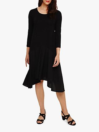 Phase Eight Hennie Hanky Hem Dress, Black