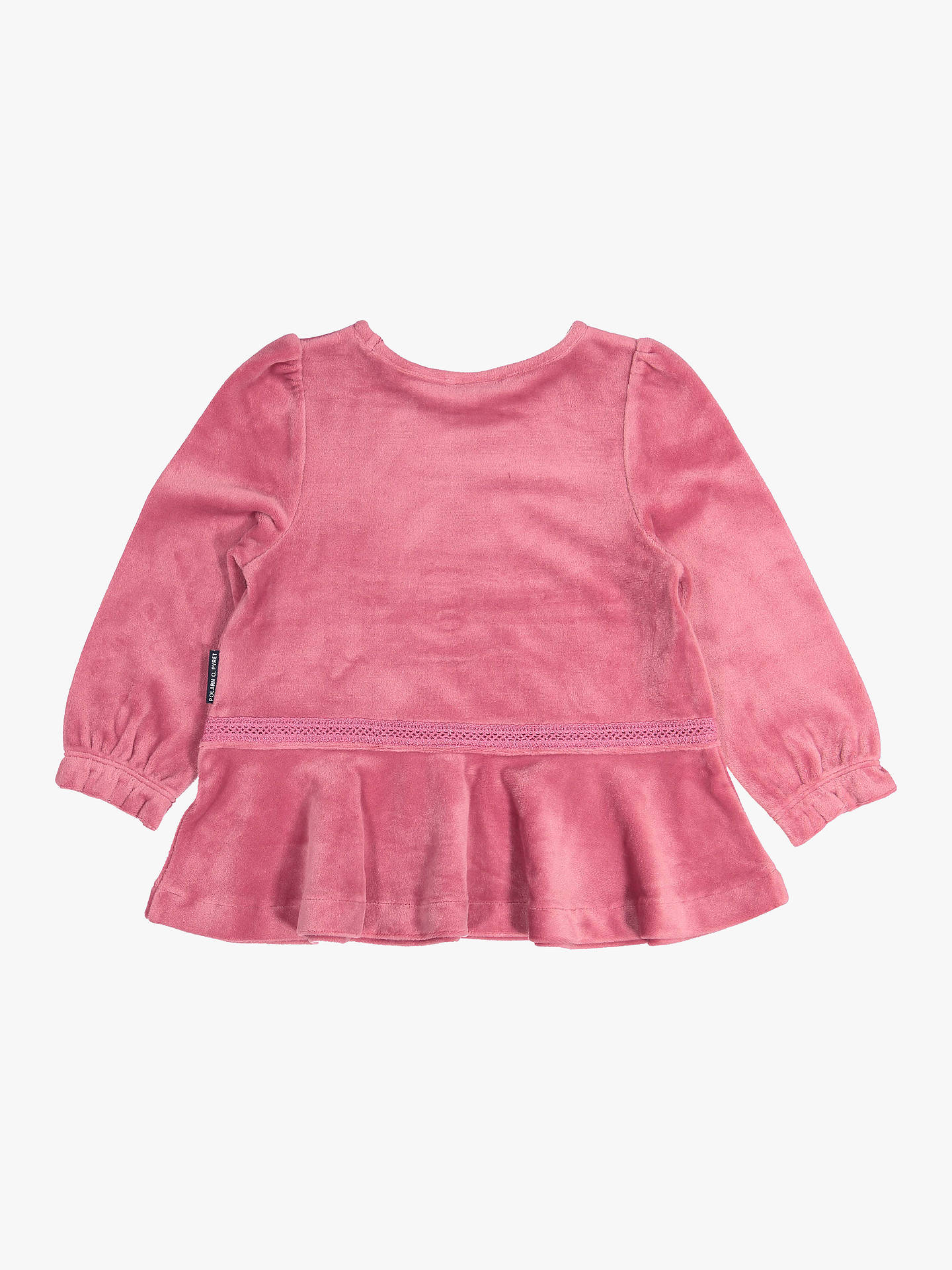 Buy Polarn O. Pyret Baby Velour Top, Pink, 6-9 months Online at johnlewis.com