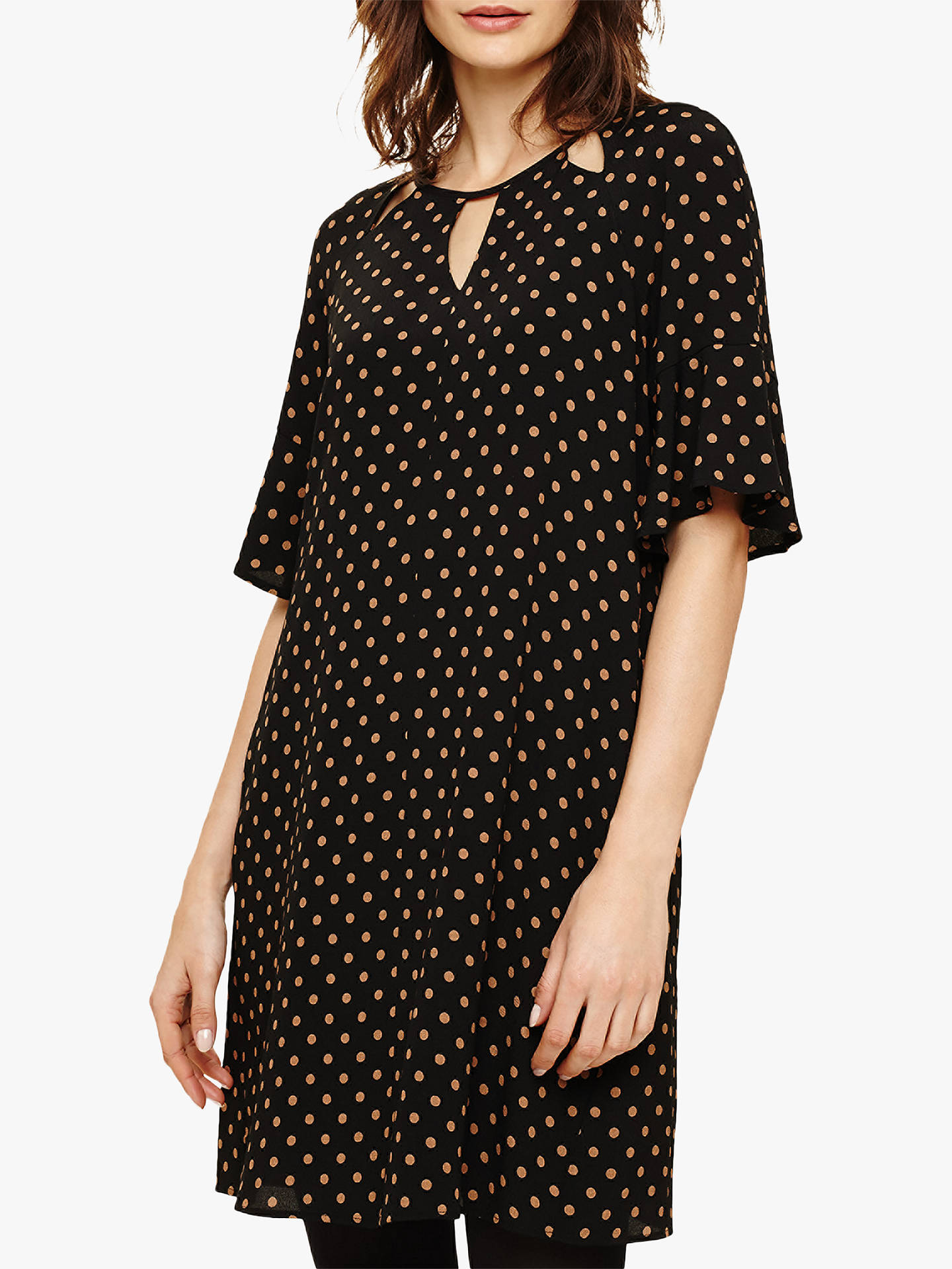 BuyPhase Eight Zoe Spot Shift Dress, Black/Camel, 8 Online at johnlewis.com