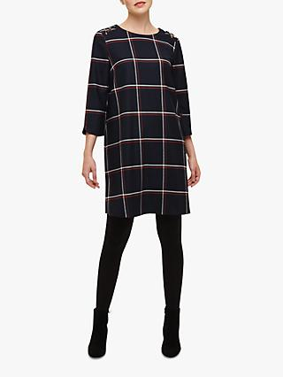 Phase Eight  Daya Check Swing Tunic Dress, Navy/Multi