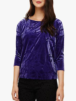 Phase Eight Ginnie Geometric Burnout Top, Violet