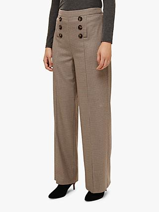 Phase Eight Beatrix Button Wide Leg Trousers