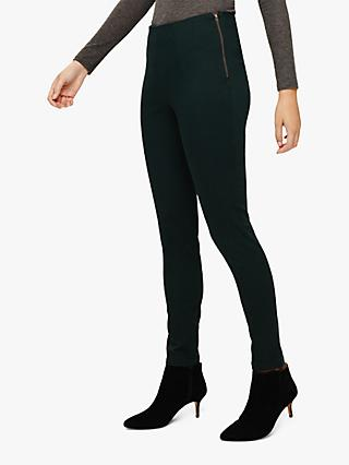 Phase Eight Amina Zip Jeggings, Viridian Green