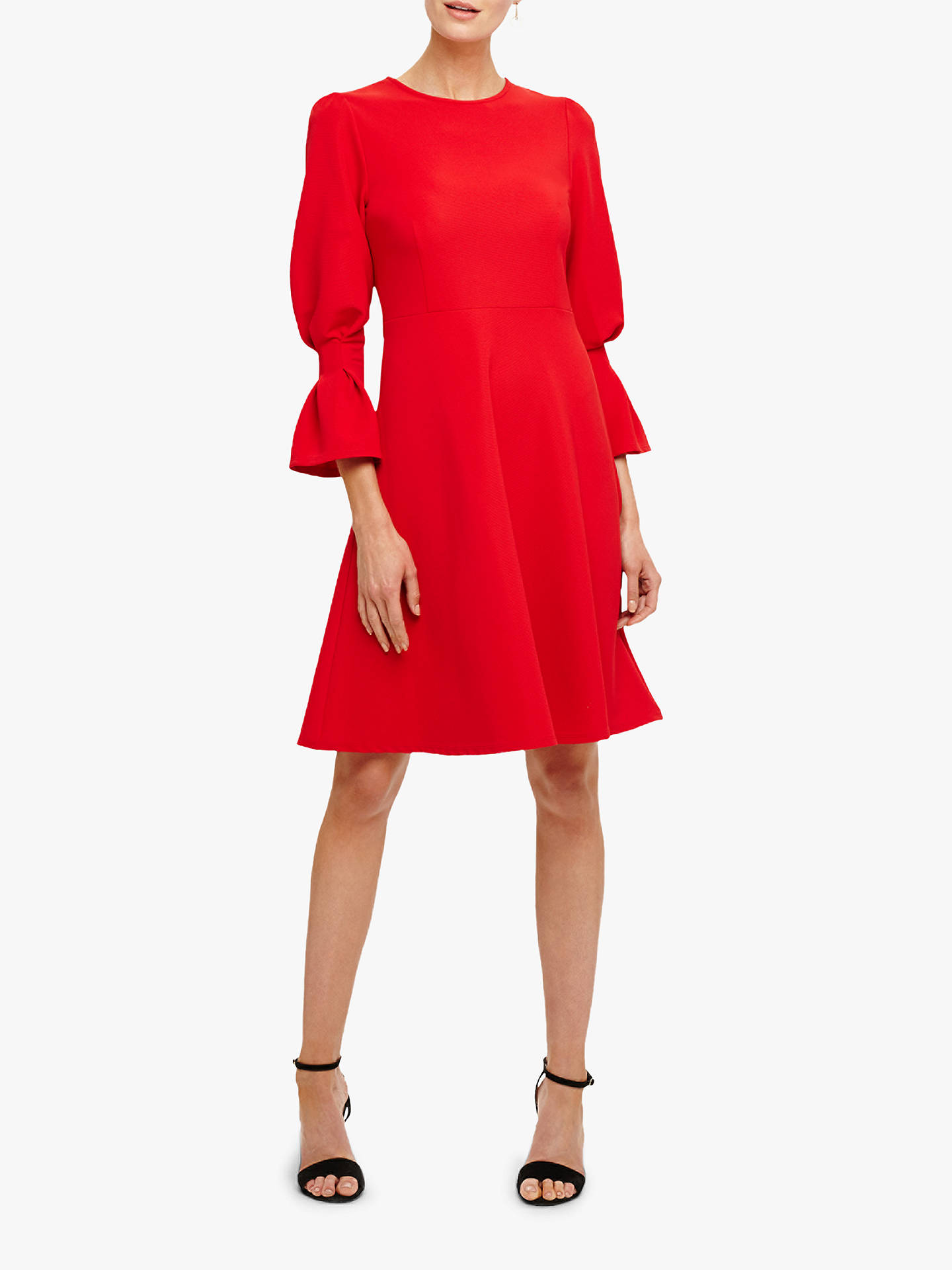 BuyPhase Eight Raya Ribbed Swing Dress, Salsa Red, 14 Online at johnlewis.com
