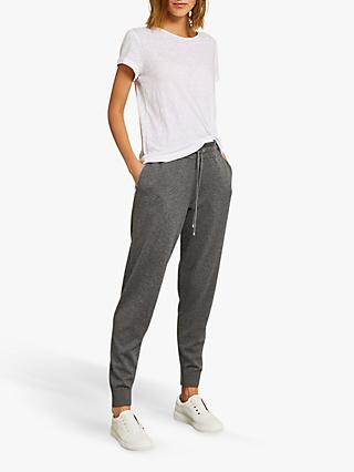 Hygge by Mint Velvet Cotton Cashmere Jogger, Dark Grey
