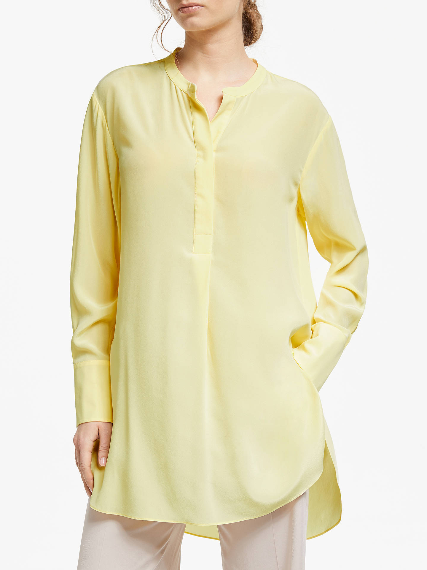 classic style wide range famous brand Modern Rarity Silk Tunic Top, Yellow at John Lewis & Partners