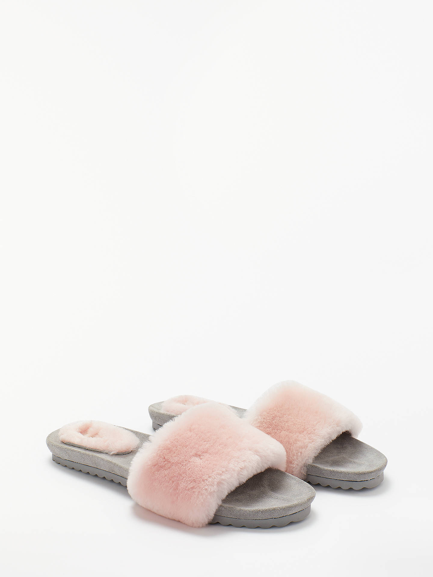 Buy Boden Shearling Lounge Slide Slippers, Chalky Pink, 6 Online at johnlewis.com