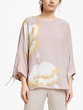 Modern Rarity Placed Floral Top, Pink