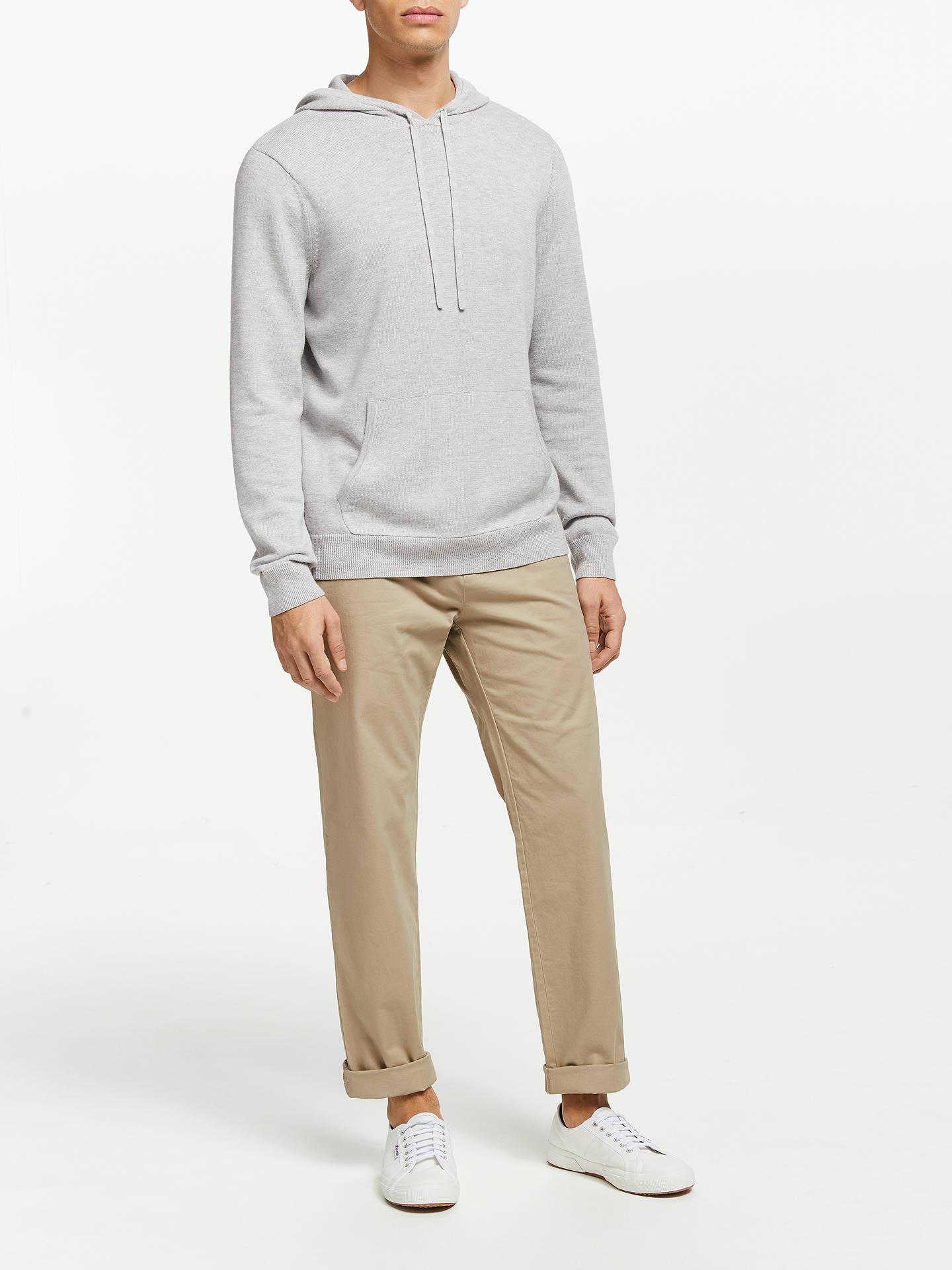Buy Kin Stretch Cotton Chinos, Stone, 36R Online at johnlewis.com