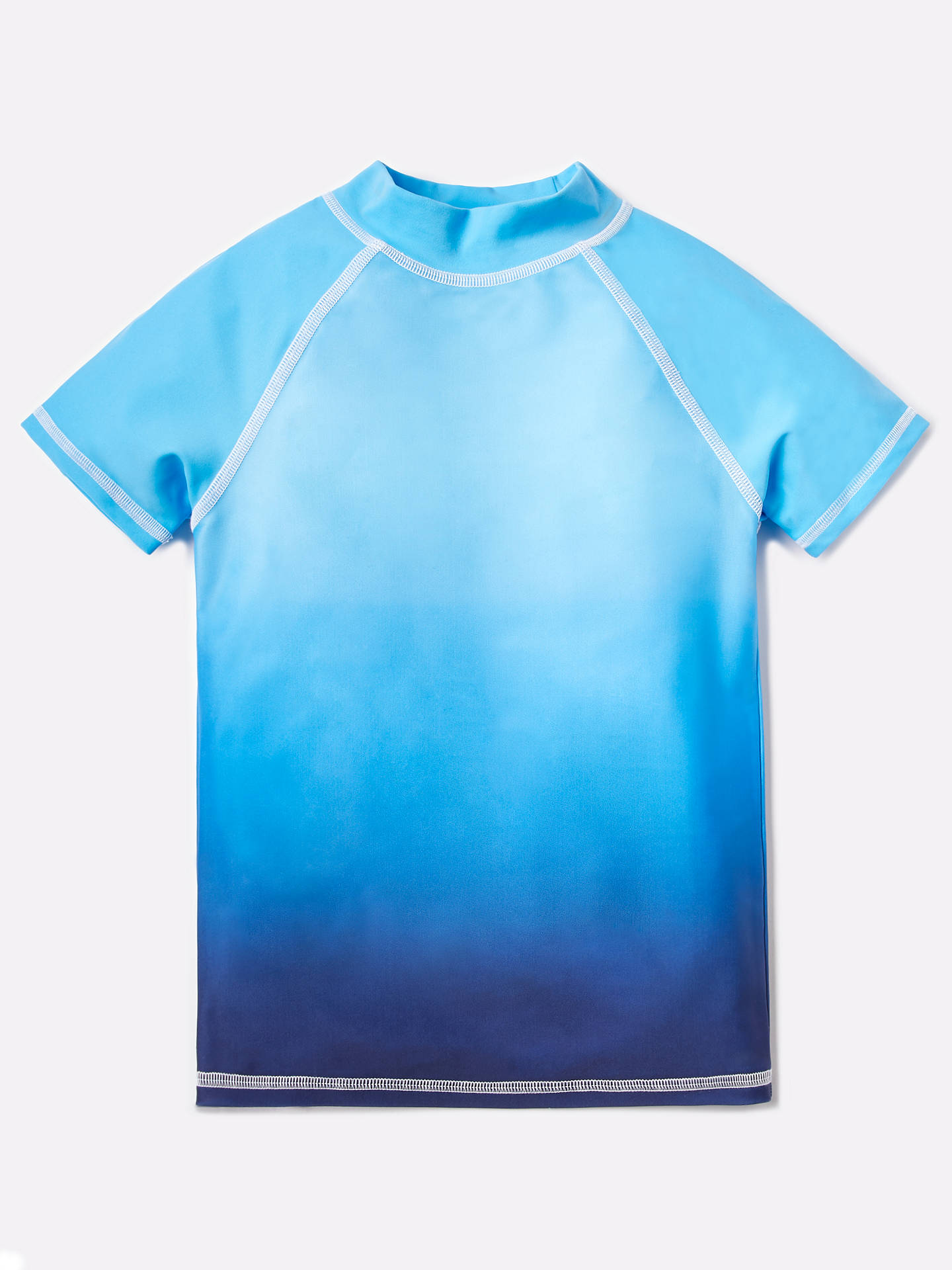 Buy John Lewis & Partners Boys' Ombre Rashie Vest, Blue, 4 years Online at johnlewis.com