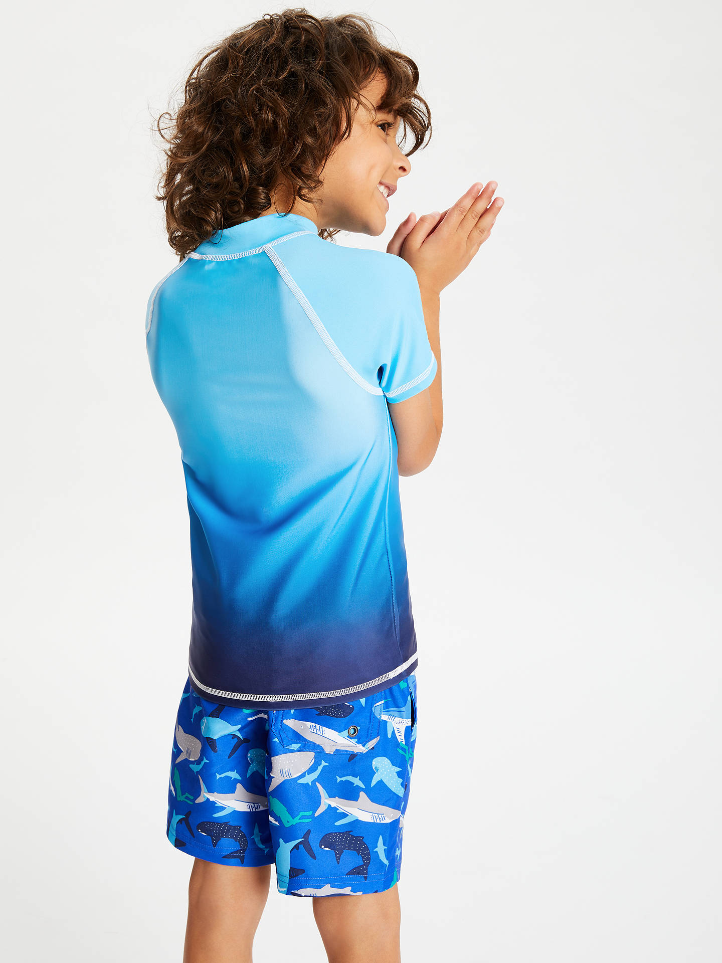BuyJohn Lewis & Partners Boys' Ombre Rashie Vest, Blue, 3 years Online at johnlewis.com