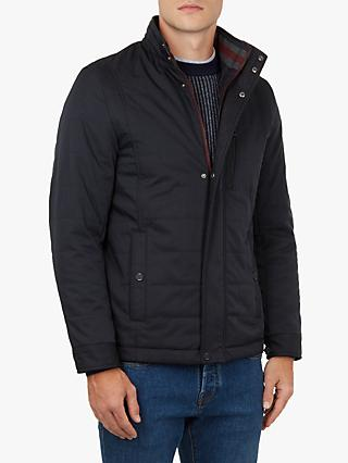 Ted Baker Reller Quilted Harrington Jacket, Blue Navy
