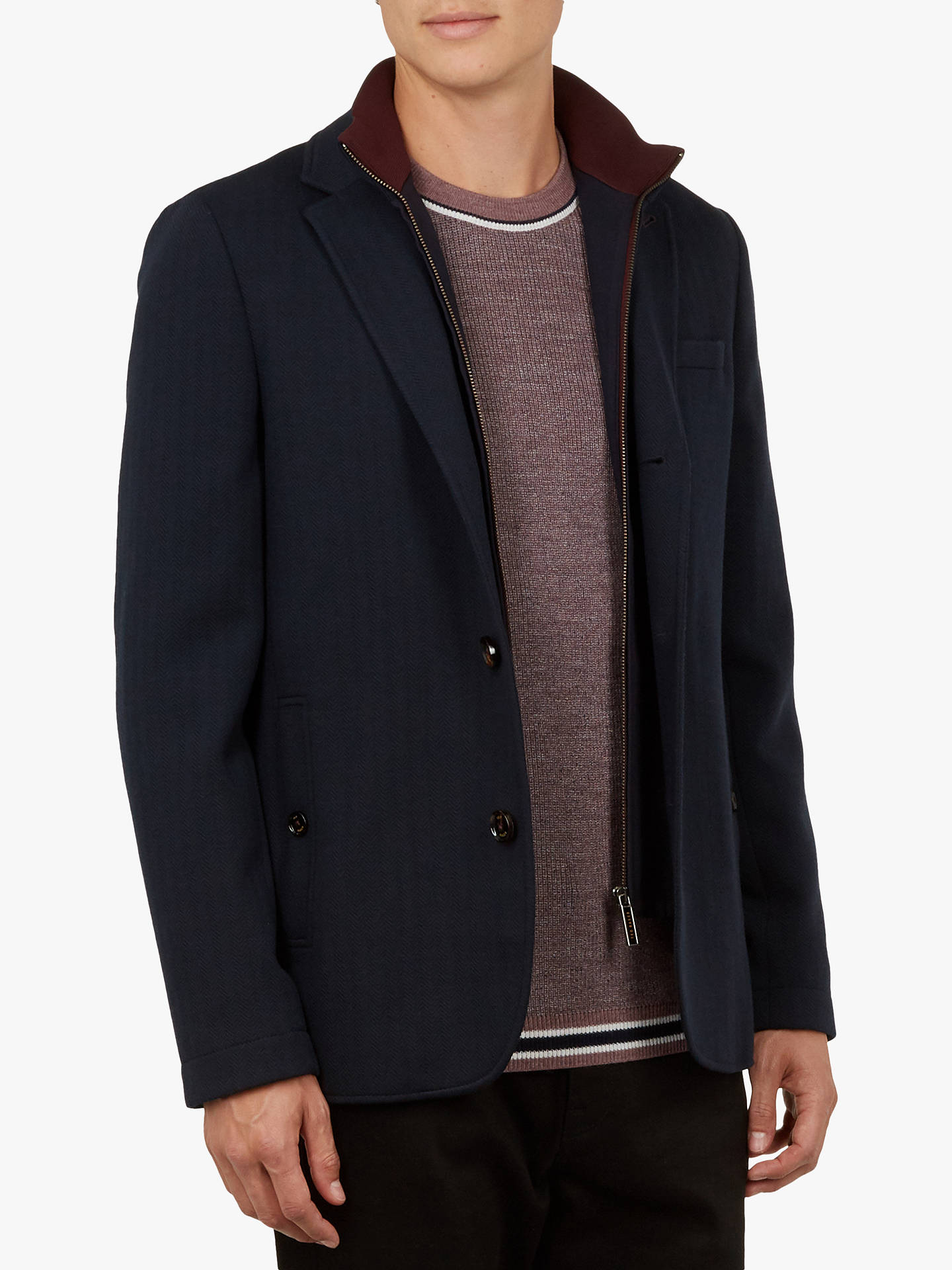 a8841806bc375c Buy Ted Baker Toastie Herringbone Jersey Jacket