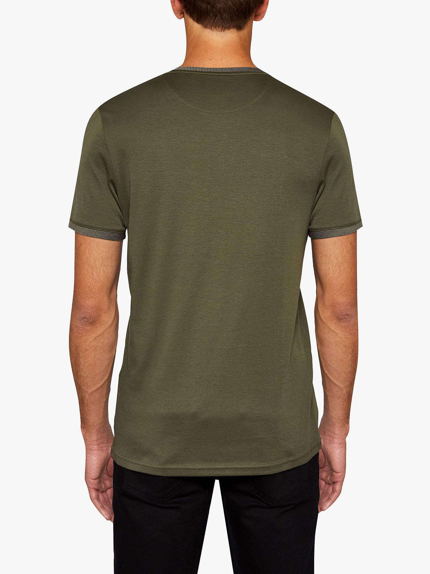 Buy Ted Baker Fryegg Short Sleeve T-Shirt, Khaki, 1 Online at johnlewis.com