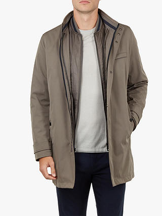Buy Ted Baker Tomme Mac Coat With Removable Inner, Grey Mid, 5 Online at johnlewis.com