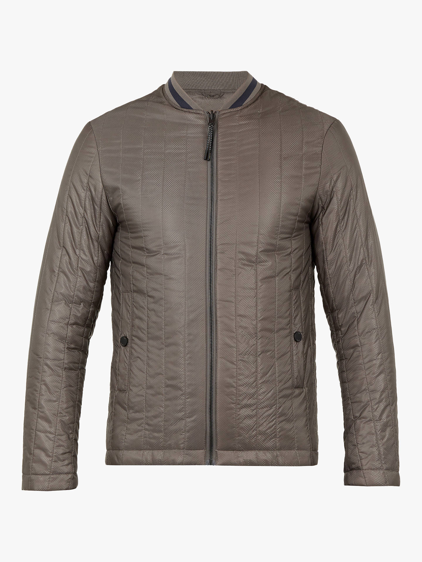 Buy Ted Baker Tomme Mac Coat With Removable Inner, Grey Mid, 1 Online at johnlewis.com
