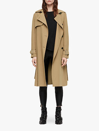 Buy AllSaints Myla Trench Coat, Tawny Brown, L Online at johnlewis.com