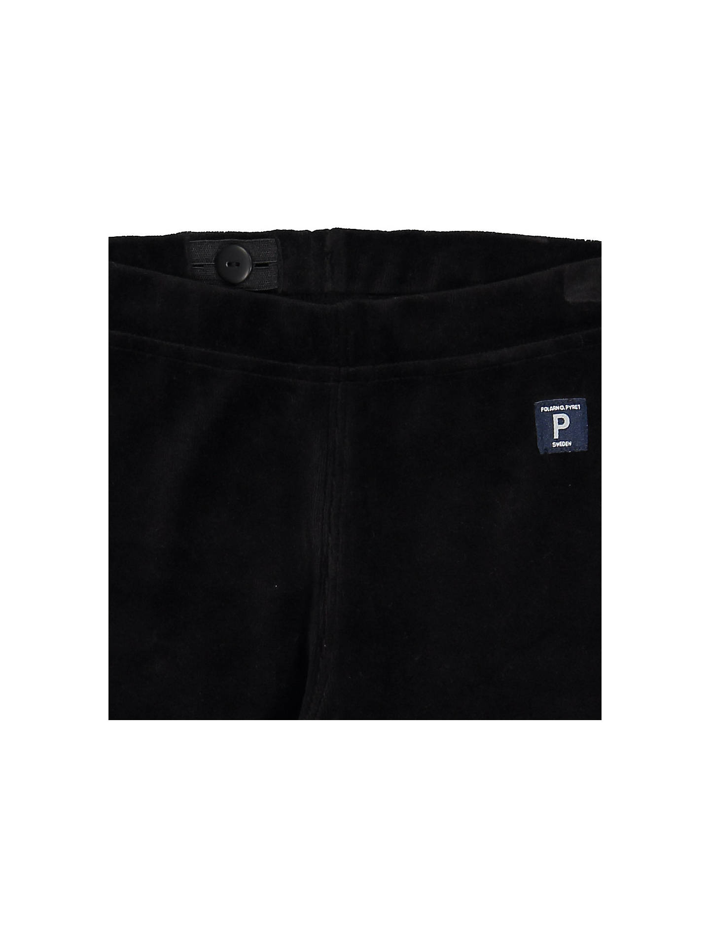 BuyPolarn O. Pyret Children's Deer Velour Trousers, Black, 2-3 years Online at johnlewis.com