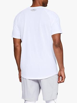 Under Armour MK-1 Short Sleeve Training Top, White/Steel