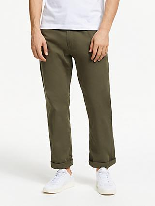 John Lewis & Partners Washed Five Pocket Straight Fit Trousers