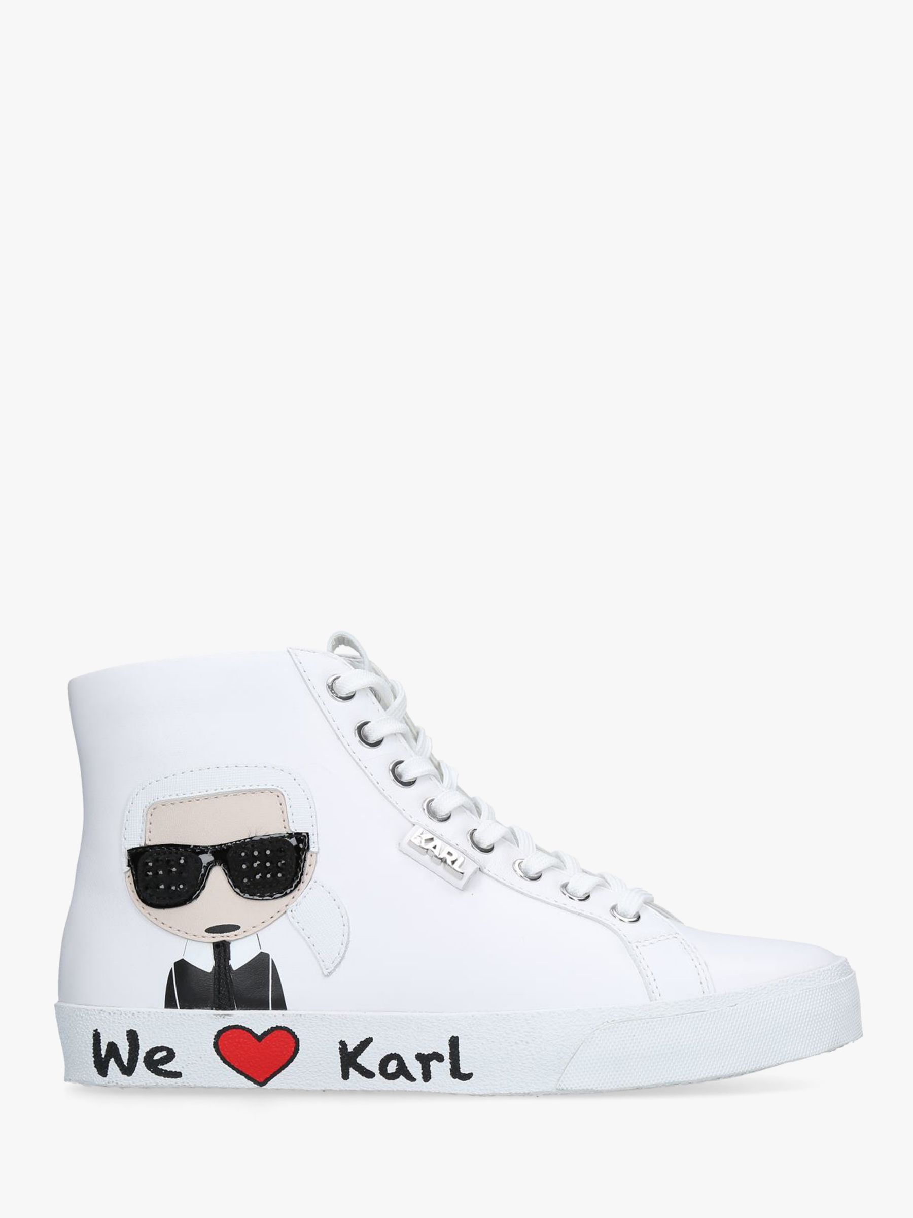 c9bea6c27d5 KARL LAGERFELD Skool Lace Up High Top Trainers
