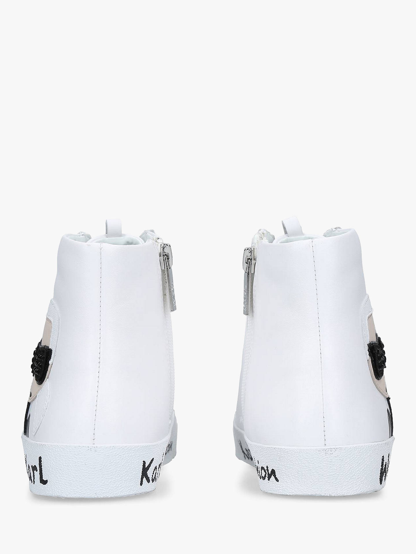 4c56abd44fa ... Buy KARL LAGERFELD Skool Lace Up High Top Trainers