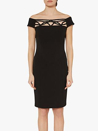 Gina Bacconi Ranita Crepe Off The Shoulder Dress