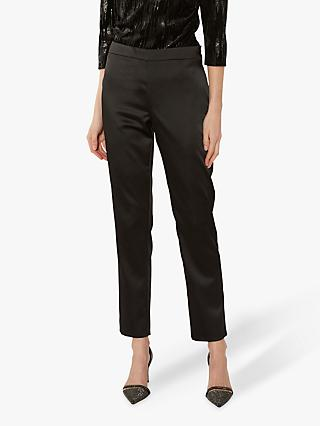 Gina Bacconi Tevora Satin Trousers, Black