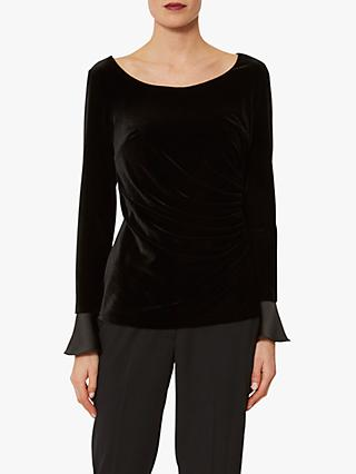 Gina Bacconi Deedee Velvet Top, Black