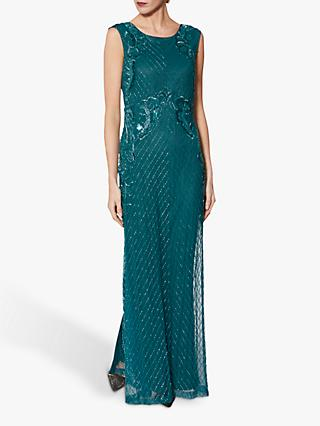 Gina Bacconi Harlow Beaded Maxi Dress, Green