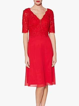 Gina Bacconi Fantasia Lace Bodice Dress
