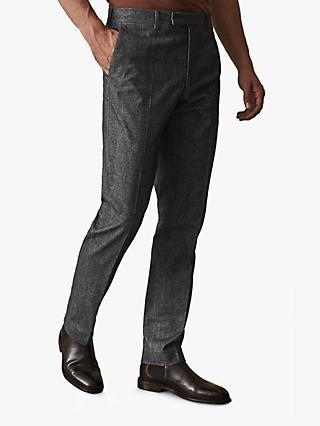Reiss Quake Brushed Slim Fit Trousers