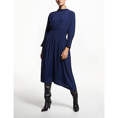 Kin IYU Links Shirred Dress, Blue