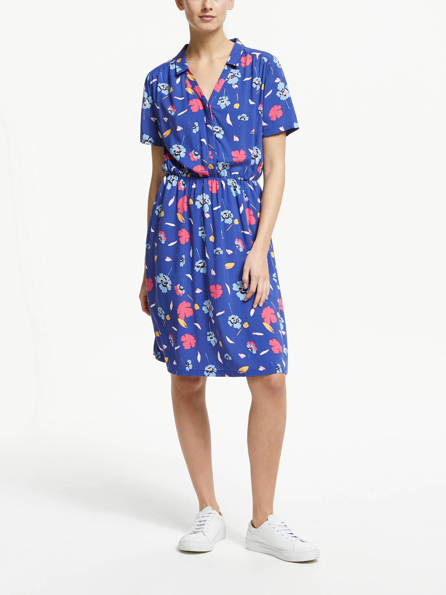 BuyCollection WEEKEND by John Lewis Poppy Silhouette Print Dress, Blue, 12 Online at johnlewis.com