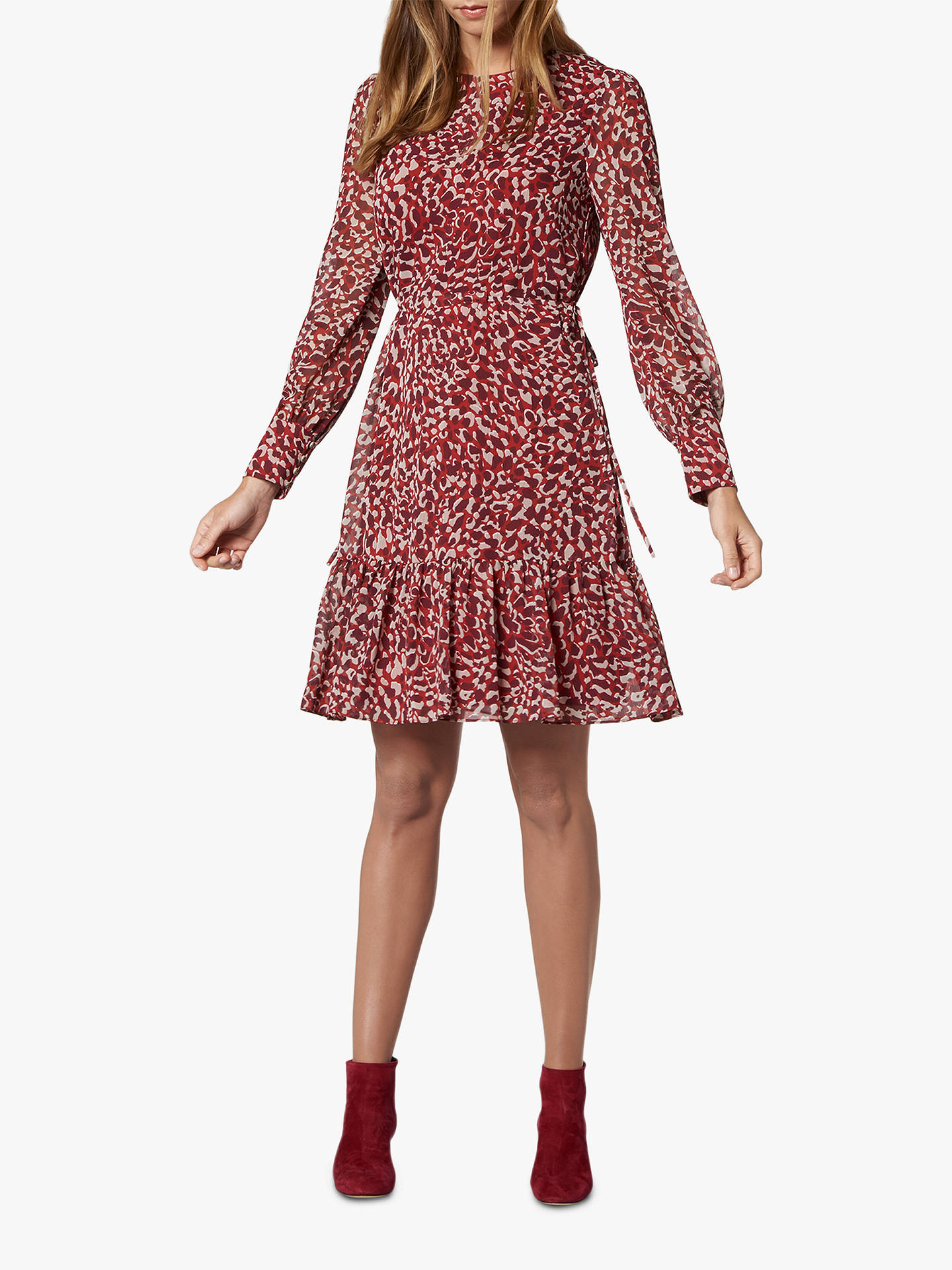 exclusive range most popular new york L.K.Bennett Damiell Abstract Animal Print Dress, Red/Multi at John ...