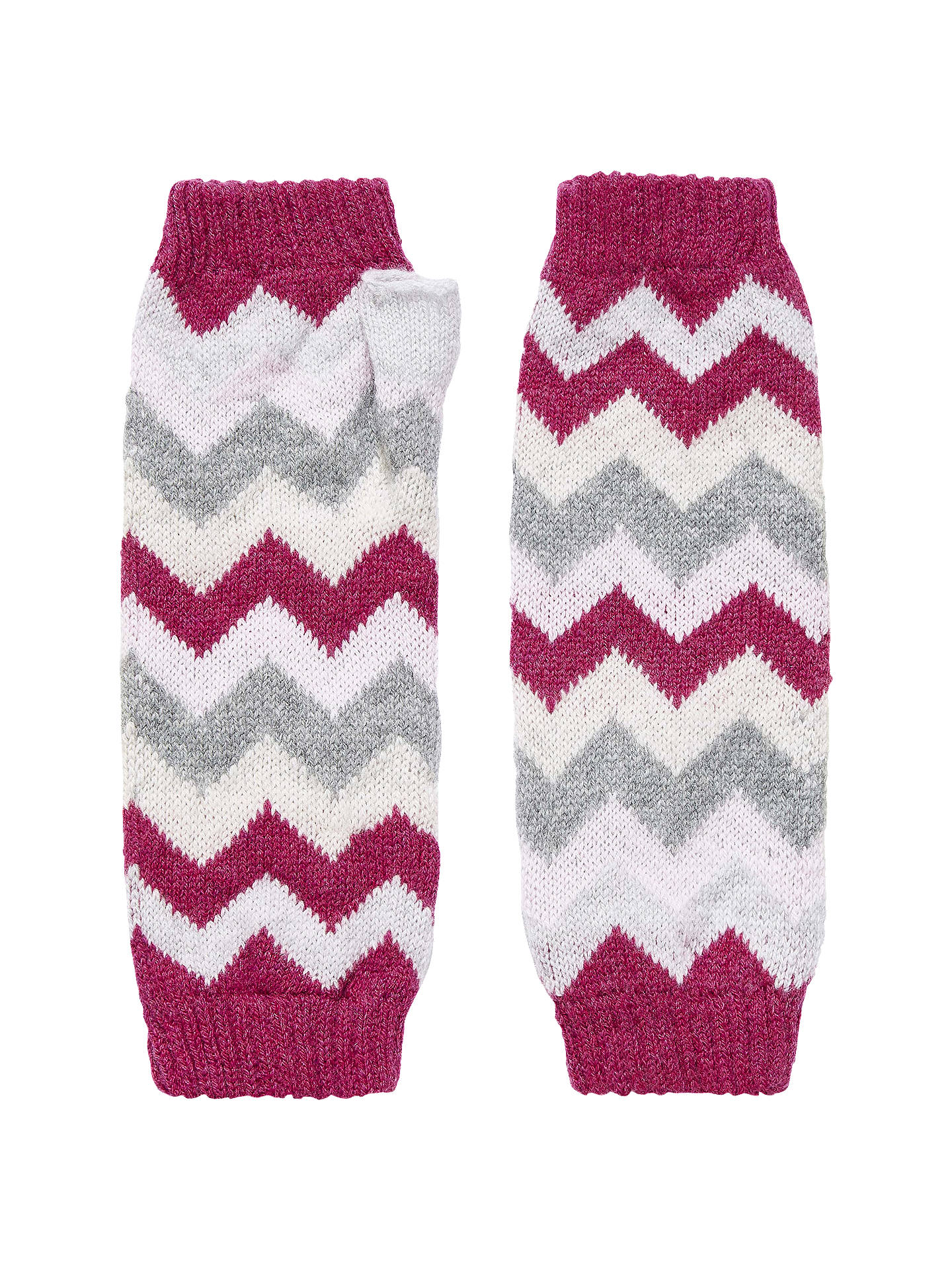 Brora Cashmere Wave Knit Mittens at John Lewis & Partners